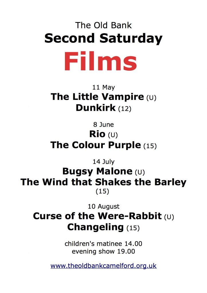 Film Matinees and Nights @ The Old Bank Camelford   England   United Kingdom